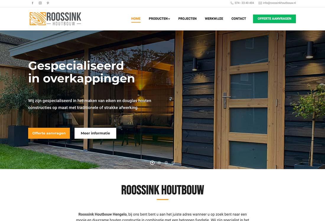 roossink houtbouw website